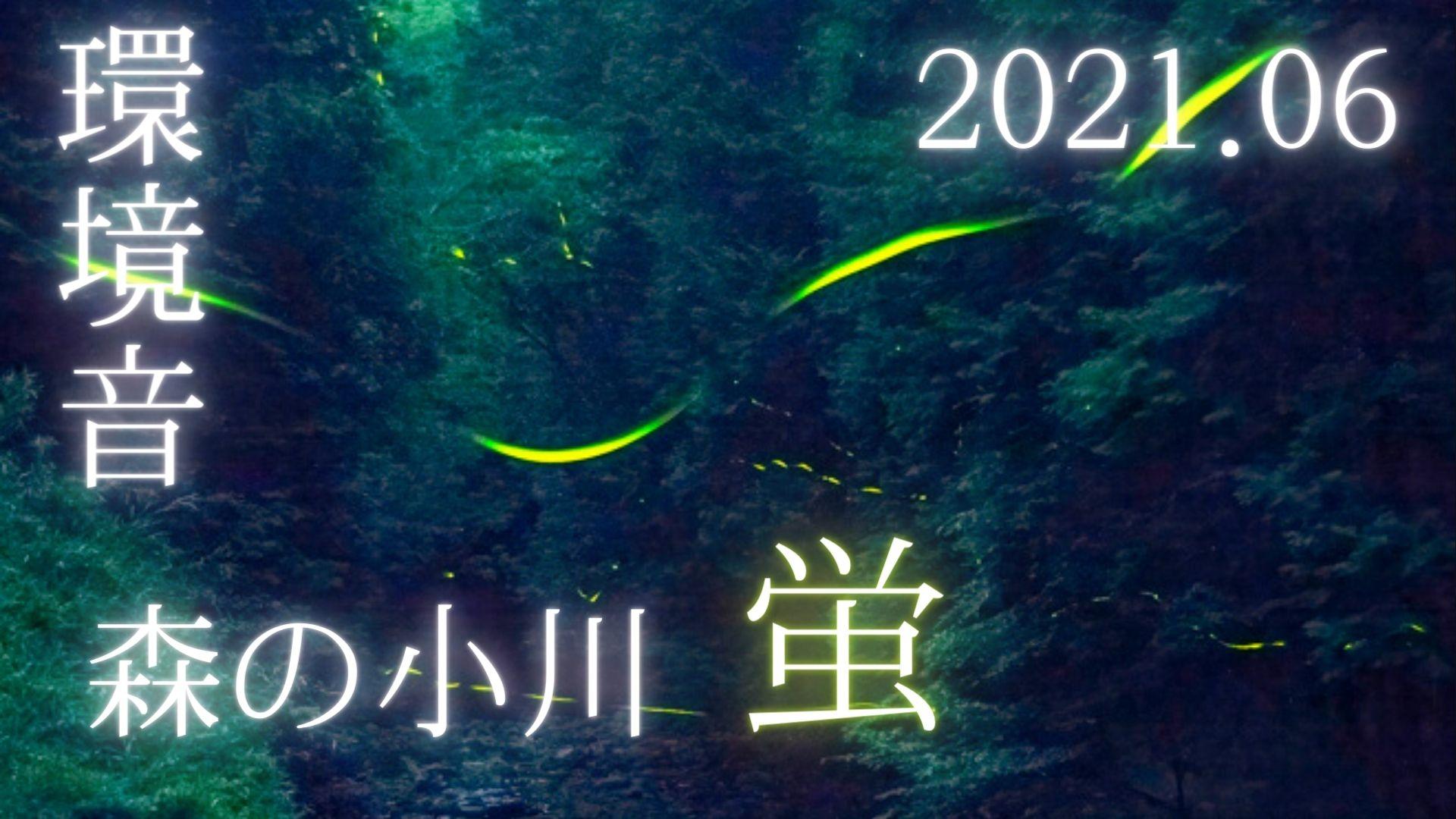 【2021】森の小川の蛍を動画と写真で撮影しました(三重県)