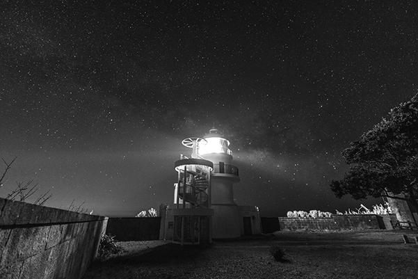 和歌山県 灯台と星空