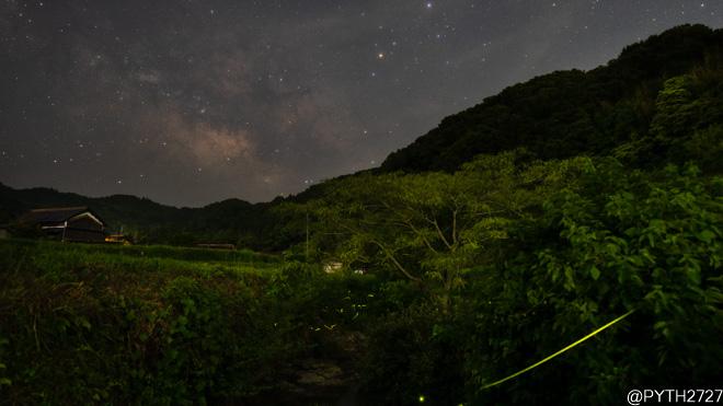 【2021】奈良県の源氏蛍と星空・天の川を動画と写真撮影しました