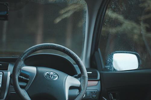雨の日、ドライブしながら動画撮影しました(環境音/雨の音)