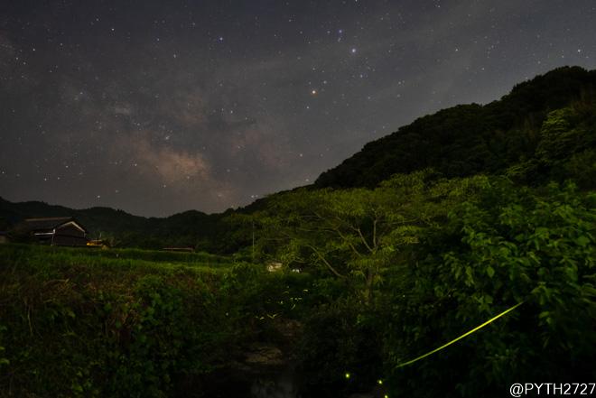 奈良県 蛍 星空