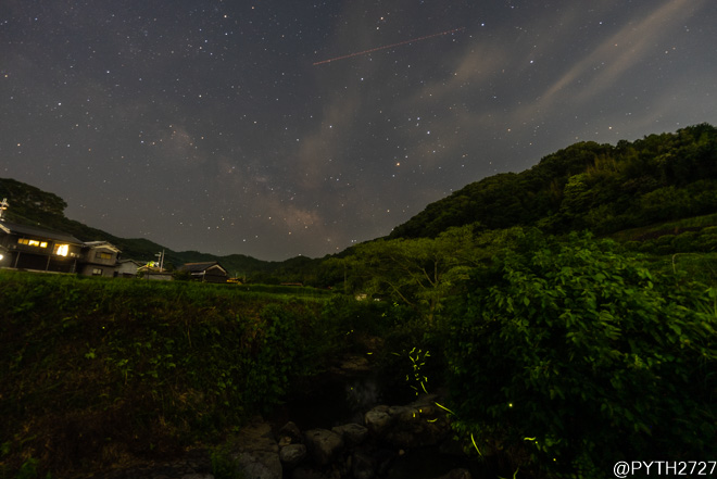 奈良県 蛍 天の川