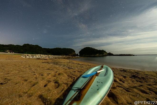 あづり浜 星景写真