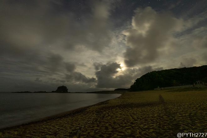 あづり浜 夜