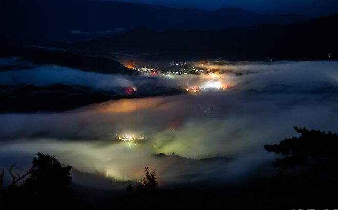鳥見山公園見晴台の雲海と日の出を撮影しました(奈良県宇陀市)