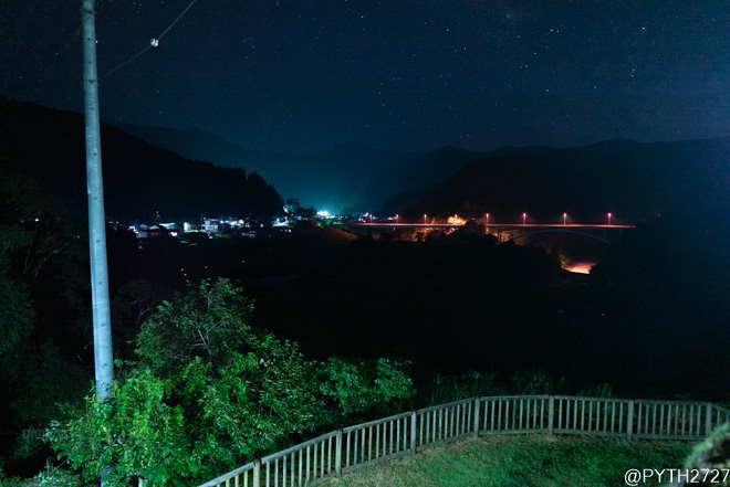 あらぎ島展望台 夜景