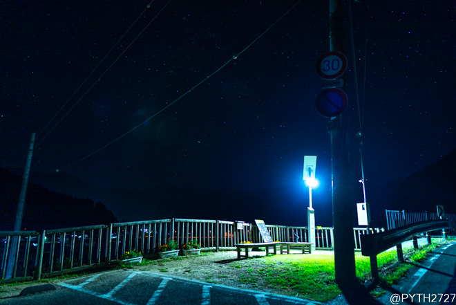 あらぎ島展望台 夜