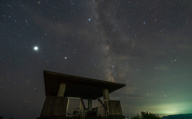 平見台園地で天の川を動画撮影(継子投)/和歌山県太地町