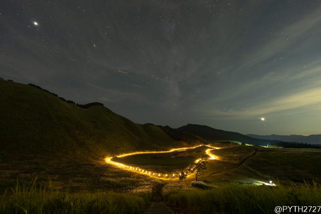2021 山灯り 天の川